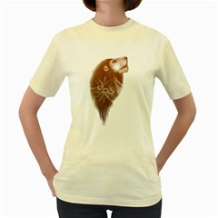 Leo Fantasy   Womens  T Shirt (yellow) by Contest1737366