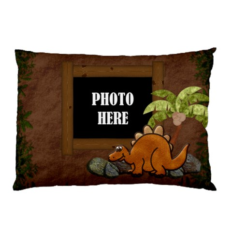 Prehistoric Pillow Case 1 By Lisa Minor   Pillow Case   Fa3zigcxeqcj   Www Artscow Com 26.62 x18.9 Pillow Case