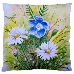 Meadow Flowers Large Cushion Case (one Side) by ArtByThree