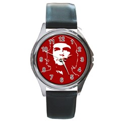 Chce Guevara, Che Chick Round Metal Watch (silver Rim) by youshidesign