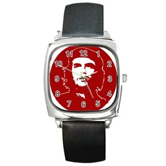 Chce Guevara, Che Chick Square Leather Watch by youshidesign