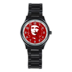 Chce Guevara, Che Chick Sport Metal Watch (black) by youshidesign