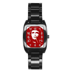 Chce Guevara, Che Chick Men s Stainless Steel Barrel Analog Watch by youshidesign