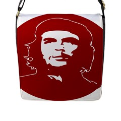 Chce Guevara, Che Chick Flap Closure Messenger Bag (large) by youshidesign
