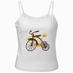 Tree Cycle White Spaghetti Tank by Contest1753604