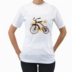 Tree Cycle Womens  T Shirt (white)