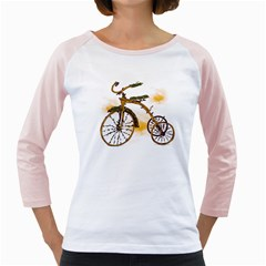 Tree Cycle Womens  Long Sleeve Raglan T-shirt (White) by Contest1753604
