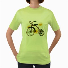 Tree Cycle Womens  T Shirt (green) by Contest1753604