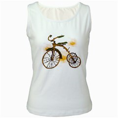 Tree Cycle Womens  Tank Top (White) by Contest1753604