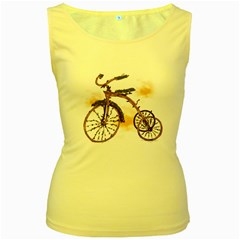 Tree Cycle Womens  Tank Top (yellow) by Contest1753604