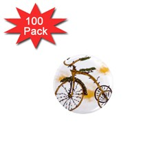 Tree Cycle 1  Mini Button Magnet (100 Pack) by Contest1753604