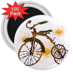 Tree Cycle 3  Button Magnet (100 Pack) by Contest1753604