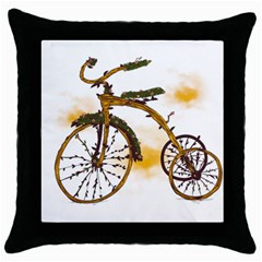 Tree Cycle Black Throw Pillow Case by Contest1753604
