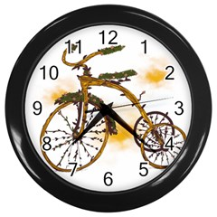 Tree Cycle Wall Clock (black) by Contest1753604