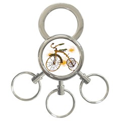 Tree Cycle 3 Ring Key Chain by Contest1753604