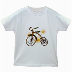 Tree Cycle Kids' T-shirt (White) by Contest1753604