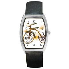 Tree Cycle Tonneau Leather Watch by Contest1753604