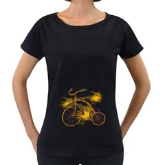 Tree Cycle Womens' Maternity T Shirt (black) by Contest1753604