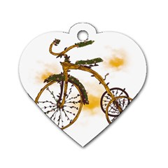 Tree Cycle Dog Tag Heart (two Sided) by Contest1753604