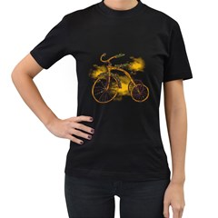 Tree Cycle Womens' T Shirt (black)