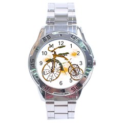 Tree Cycle Stainless Steel Watch (men s) by Contest1753604