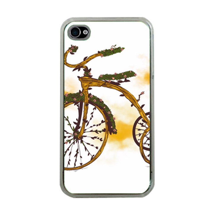 Tree Cycle Apple iPhone 4 Case (Clear)
