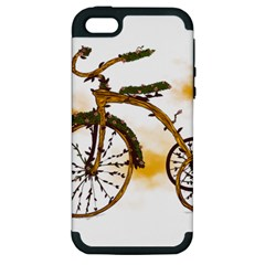 Tree Cycle Apple Iphone 5 Hardshell Case (pc+silicone)
