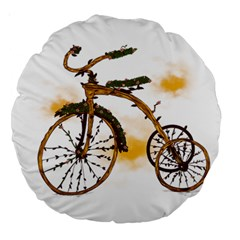 Tree Cycle 18  Premium Round Cushion  by Contest1753604