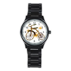 Tree Cycle Sport Metal Watch (black) by Contest1753604
