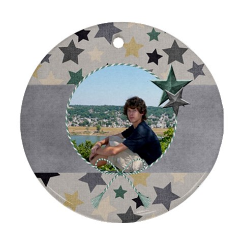 Brothers Ornament 1 By Lisa Minor   Ornament (round)   J3imomiuh97s   Www Artscow Com Front