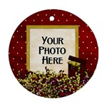Crinkled Ribbon Ornament - Ornament (Round)