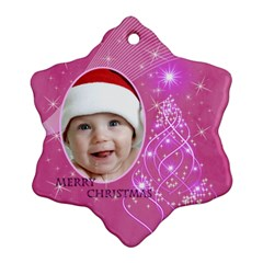 Pink Snowflake Ornament (2 Sided) By Deborah   Snowflake Ornament (two Sides)   Tj25b10n50n1   Www Artscow Com Back