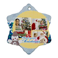 Merry Christmas By Merry Christmas   Snowflake Ornament (two Sides)   Xhfawrw01ben   Www Artscow Com Front