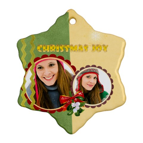 Merry Christmas By Merry Christmas   Ornament (snowflake)   Dvmyjo2dwbpl   Www Artscow Com Front
