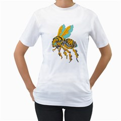 Bumblebot Womens  T Shirt (white)