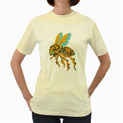 Bumblebot  Womens  T Shirt (yellow) by Contest1741955