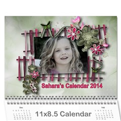 Saharas Calender By Kaye   Wall Calendar 11  X 8 5  (12 Months)   Rze3afns0s32   Www Artscow Com Cover