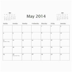 Saharas Calender By Kaye   Wall Calendar 11  X 8 5  (12 Months)   Rze3afns0s32   Www Artscow Com May 2014