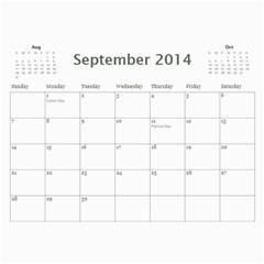 Saharas Calender By Kaye   Wall Calendar 11  X 8 5  (12 Months)   Rze3afns0s32   Www Artscow Com Sep 2014