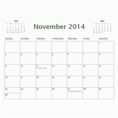 Saharas Calender By Kaye   Wall Calendar 11  X 8 5  (12 Months)   Rze3afns0s32   Www Artscow Com Nov 2014