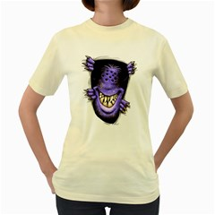 Hello   I m Purple  Womens  T Shirt (yellow) by Contest1754937