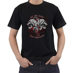 We Are More Mens' T-shirt (Black) by Contest993860