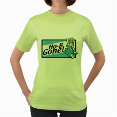 Be Gone Womens  T-shirt (Green) by Contest1703156