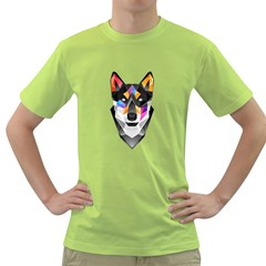 WOLF Mens  T-shirt (Green) by Contest1741741