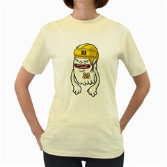 Ghost  Womens  T Shirt (yellow)