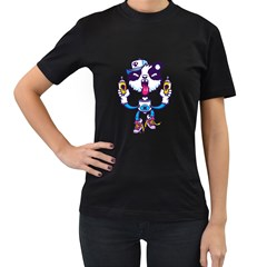 Panda  Womens' T Shirt (black)