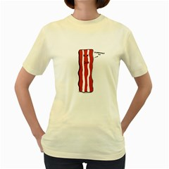D Don t Eat Me  Womens  T Shirt (yellow) by Contest1732527