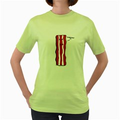 D Don t Eat Me Womens  T Shirt (green) by Contest1732527