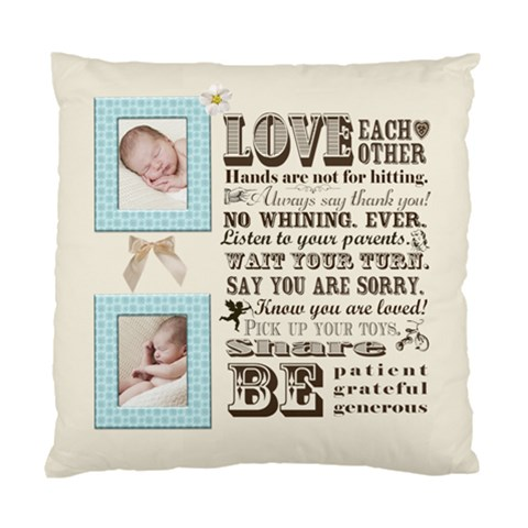 Family Love By Chatting   Standard Cushion Case (one Side)   2saiggxlm11c   Www Artscow Com Front