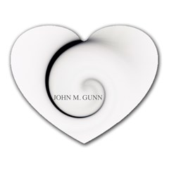 Glabel1b Mouse Pad (Heart) by gunnsphotoartplus